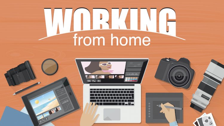 Work from home using  mobile or computer