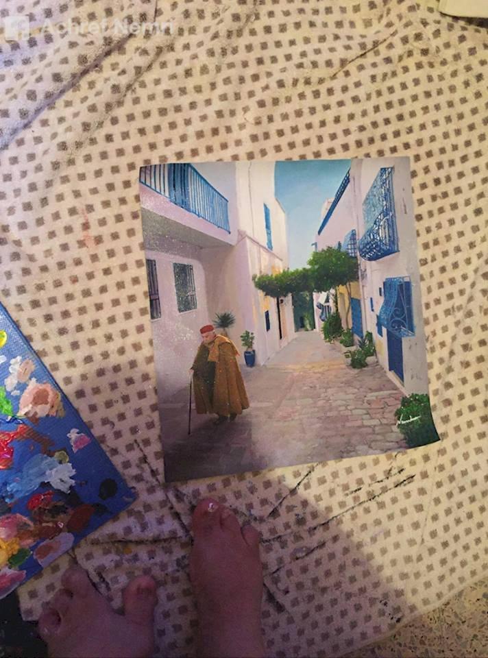 Ashraf Al Nimri  - Feet painter From Tunisia