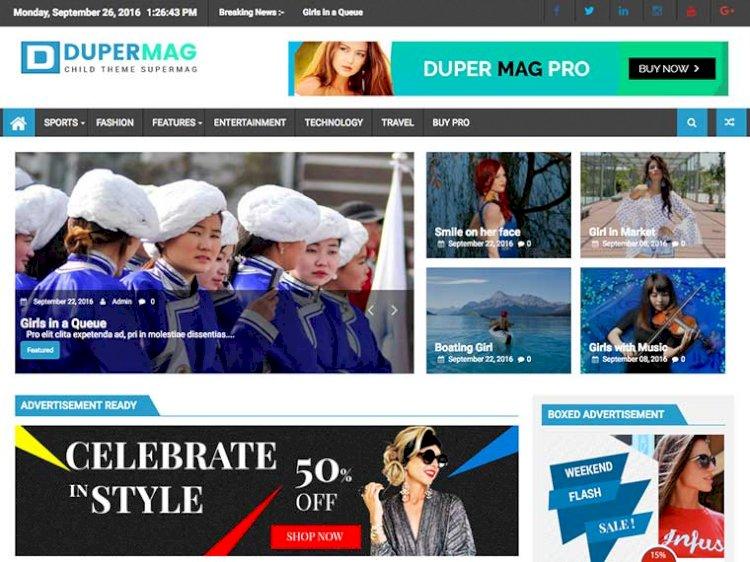Super Duper Magazine, News And Blog Theme