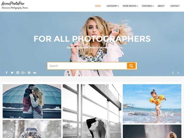 Masonry Based Premium Photography Theme