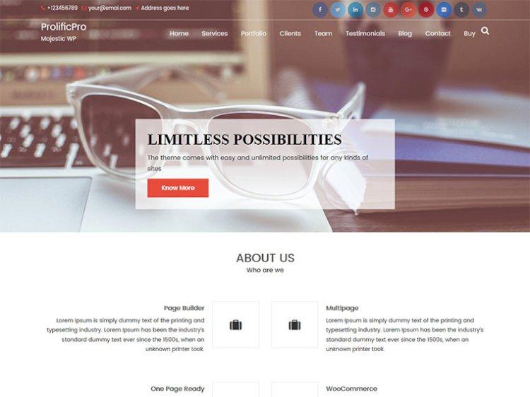 ProlificPro Multipurpose Premium WordPress Theme