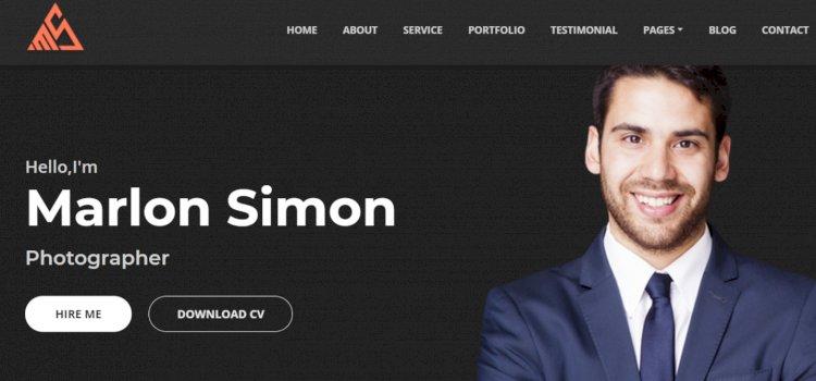 Saimon - Portfolio & CV & Resume CMS
