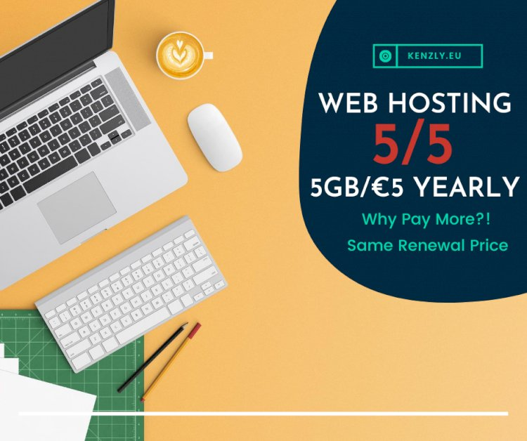 Super Web Hosting Offer 5GB/€5 Yearly
