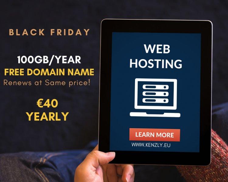 Black Friday 40% off Annual web hosting 100GB