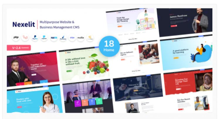 Nexelit - Multipurpose Website & Business Management System CMS
