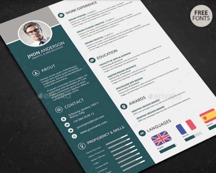 Create a creative resume easily